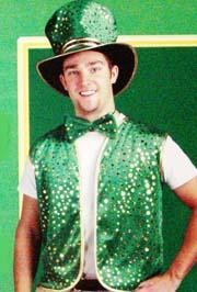 St Pats Vest/ Bow Tie/ Hat Set