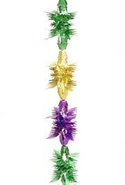 9ft x 8in Metallic Purple Green Gold Pull Out Garland