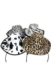 14in x 12in Assorted Animal Print Cowboy Hats
