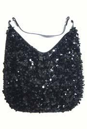 14in x 11in Large Black Sequin Purse