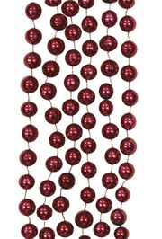 10mm 42in Metallic Burgundy/ Maroon Mardi Gras Beads