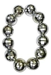 Silver Disco Ball Jumbo Necklace