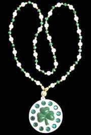 36in Shamrock Medallion w/ Green Rhinestone