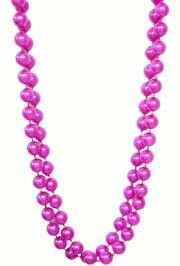48in 16mm Round Hot Pink Pearl Beads
