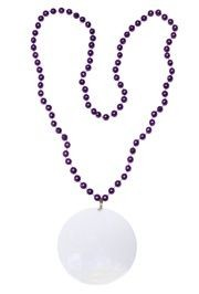 Customizable 3in Medallion Purple Necklace