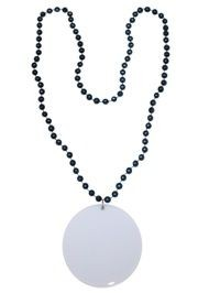 Customizable 3in Medallion Navy Blue Necklace