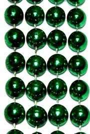 96in 18mm Round Metallic Green Beads