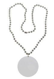 Customizable 3in Medallion Silver Necklace