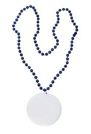 Customizable 3in Medallion Blue Necklace