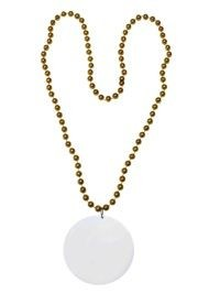 Customizable 3in Medallion Gold Necklace