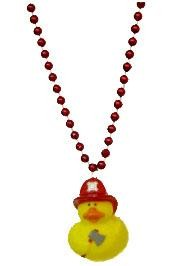 Fireman Rubber Duck Necklace