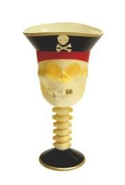 7in 4oz Plastic Pirate Skull Goblets