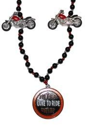 Motorcycle Bead w/ Love To Ride Medallion