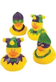 Vinyl Mardi Gras Rubber Duckies