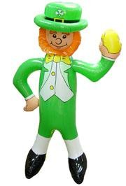 Kids love the St. Patrick's Day toys and novelty items. These are great for parties, parade throws, and the classroom. Check out our inflatable leprechaun, St. Patrick's Day Beach Balls, St. Patrick bears, Green footballs, and the Luck of the Irish Basket Balls.