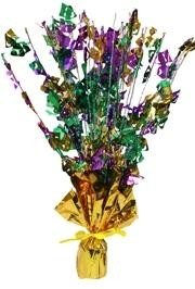 15 1/2in Tall Not Spread Out Mardi Gras Foil Burst  Comedy/Tragedy Centerpiece/Balloon Weight
