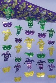 12ft Long x 12in Wide Polyplastic Mardi Gras Ceiling Decoration.