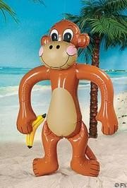 35in x 67in Inflatable Jumbo Monkey