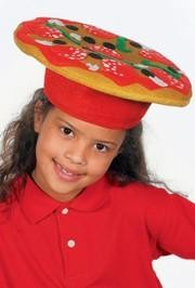 12in Polyester Pizza Hat
