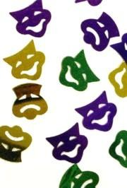 Mardi Gras Comedy and Tragedy Confetti