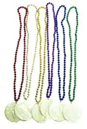Customizable 3in Medallion Necklaces in 6 Assorted Colors