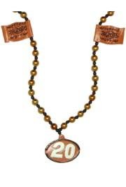 Number 20 Racing Car Flag Medallion Bead