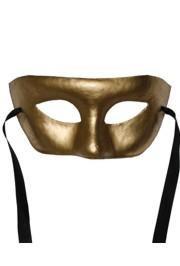 7in x 3.5in Gold Paper Mache Mask