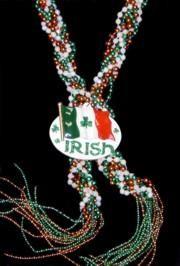 60in 7mm Braided Bead w/ Irish Flag Medallion