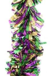 9ft x 10in Purple Green Gold Twigs Cylinder Garland