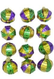 Mardi Gras tree ornaments work great from Christmas through Mardi Gras!