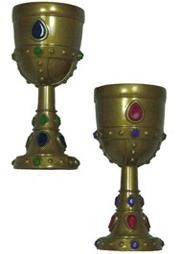 7in Molded Crown Goblets