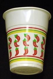 5in Plastic Cup w/Chili Pepper Design