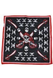 20in x 20in Cotton Pirate Bandana Assorted Styles