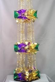 8ft Hex Cut Purple Green Gold Pull Out Garland