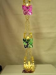 7ft Mardi Gras Pull Out Garland