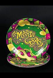 9in Mardi Gras Dinner Paper Plates