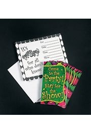 Mardi Gras Party Invitations