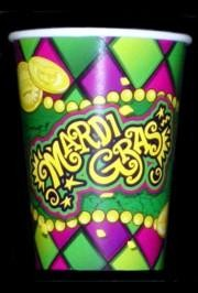9oz Mardi Gras Paper Cups