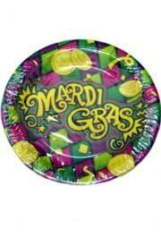 7in Mardi Gras Dessert Paper Plates