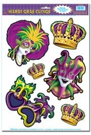 12in x 17in Mardi Gras Clings