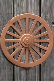 12in Plastic Wagon Wheel Wall Decoration