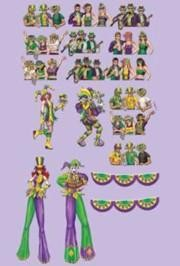 17in - 42in Assorted Size Mardi Gras Props Cutouts Back Drop Wall Decoration/ Float Decorations
