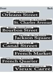 4in x 24in Mardi Gras Famous Street Corner Signs