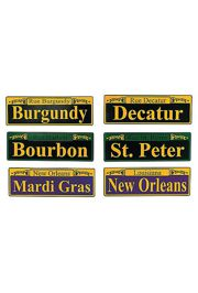 4in x 12 Assorted Street Signs Mardi Gras Cutouts