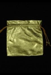4 7/8in Golden Bag wDraw String
