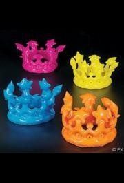 13in circ. Assorted Neon Inflatable Crown