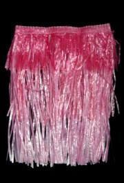 Child Plastic Pink Layered Hula Skirt