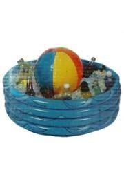 Inflatable Beach Ball Cooler 29in Diameter X 12in Deep - 16in Tall Overall