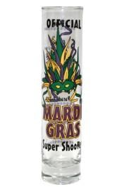 Mardi Gras Super Shooter / Shot Glass 1 3/4in x 7 1/2in Tall