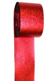 100ft x 2in Red Metallic Streamer